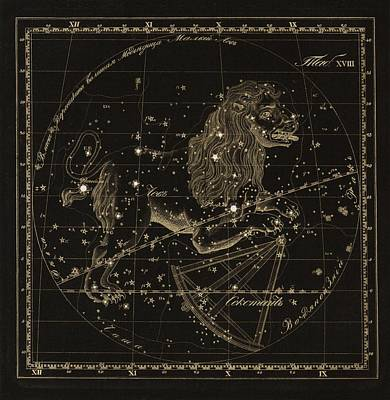 Leo Constellations, 1829 Poster