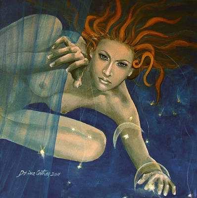 Leo From Zodiac Series Poster by Dorina  Costras