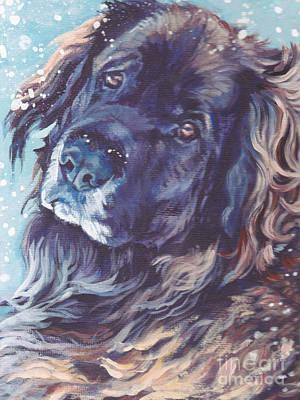 Leonberger Portrait Poster by Lee Ann Shepard