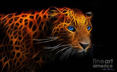 Leopard Fraktal Poster by Bruno Santoro