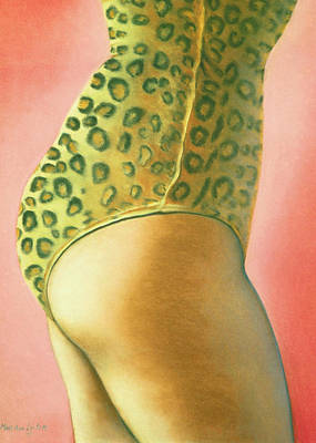 Poster featuring the pastel Leopard Suit by Mary Ann  Leitch