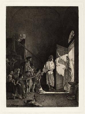 Leopold Flameng After Alexandre Bida, The New Testament Poster
