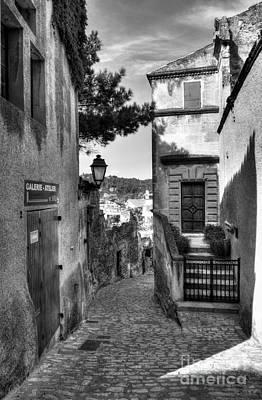 Les Baux De Provence 6 Bw Poster by Mel Steinhauer