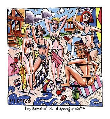 Les Demoiselles D'amagansett Poster by Tom Hachtman