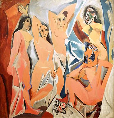 Les Demoiselles D'avignon Picasso Poster