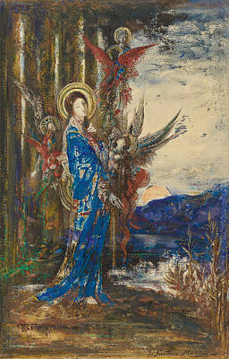 Les Epreuves Poster by Gustave Moreau