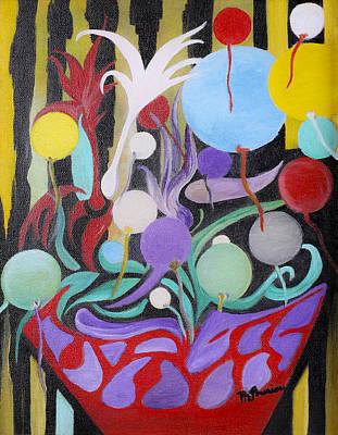 Les Fleurs De La Vie Poster by Therese Gouriou