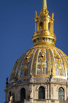 Les Invalides Dome Poster by Brian Jannsen