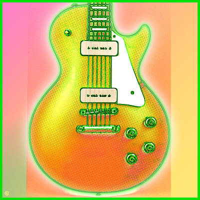 Les Paul Guitar Poster by Gary Grayson