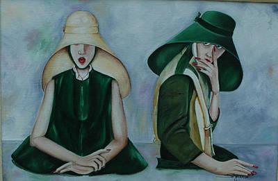 Les Soeurs Aiko Et Nayoko  Poster by Jean claude Segura
