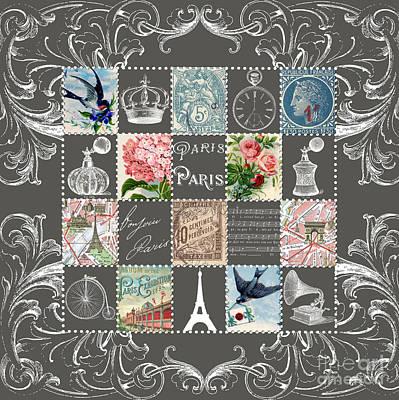 Les Timbres 2 Poster by Marion De Lauzun