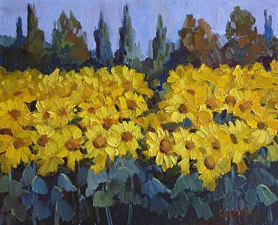Les Valayans Sunflowers Poster by Diane McClary