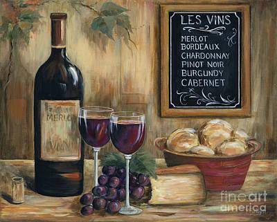 Les Vins Poster by Marilyn Dunlap