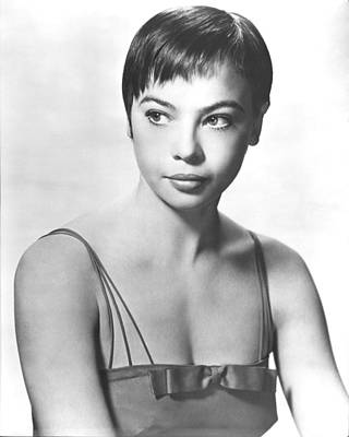Leslie Caron Poster by Silver Screen