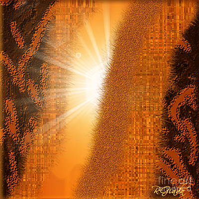 Poster featuring the digital art Let The Sunshine In - Abstract Art By Giada Rossi by Giada Rossi