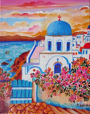 Let Us Go To Santorini Poster