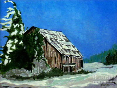 Poster featuring the painting L'etable  The Barn by Joyce Gebauer
