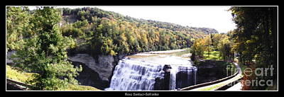 Poster featuring the photograph Letchworth State Park Middle Falls Panorama by Rose Santuci-Sofranko