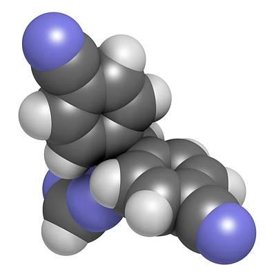 Letrozole Breast Cancer Drug Molecule Poster by Molekuul