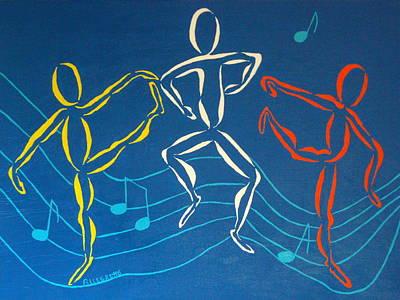 Let's Dance Poster by Pamela Allegretto