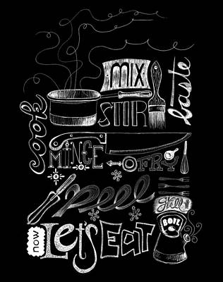 Let's Eat Poster by Stephanie Thompson