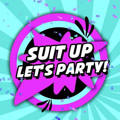 Let's Party Poster by Anna Quach