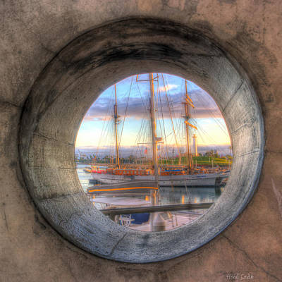 Let's Pretend It's A Porthole Poster by Heidi Smith