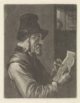 Letter Reading Man, Jan Van Der Bruggen, Jan Verkolje Poster