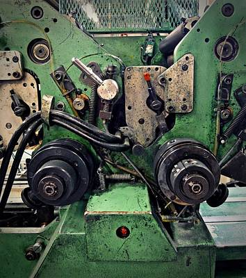 Letterpress Machine Poster by Patricia Strand