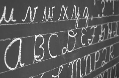 Letters On A Chalkboard Poster
