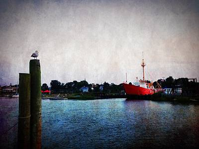 Lewes - Overfalls Lightship 2 Poster by Richard Reeve
