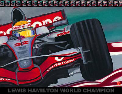 Lewis Hamilton F1 World Champion Pop Poster
