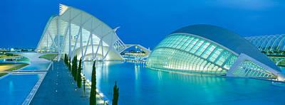 Lhemisferic Planetarium And El Palau De Poster by Panoramic Images