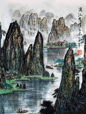 Poster featuring the photograph Li River by Yufeng Wang
