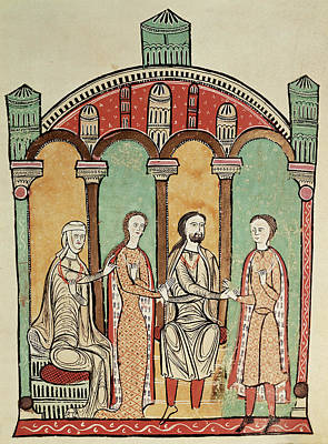 Liber Feudorum Marriage Scene Anon, Spanish School 12th Century Poster