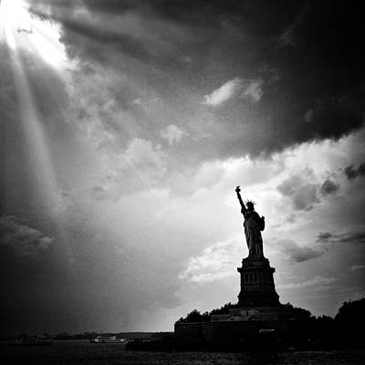 Liberty Enlightening The World Poster by Natasha Marco
