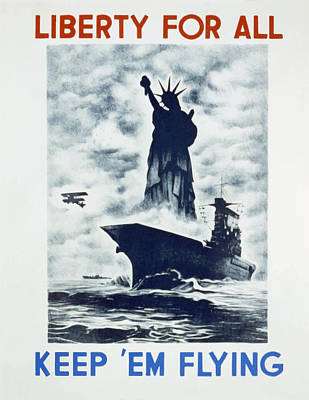 Poster featuring the photograph Liberty For All by american Classic Art