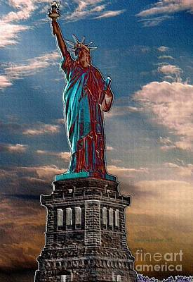 Poster featuring the photograph Liberty For All by Luther Fine Art
