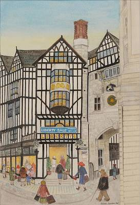 Liberty I, 1988 Watercolour On Paper Poster by Gillian Lawson