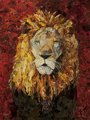 Liberty Lion Poster by Claire Muller