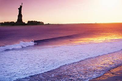 Liberty Surf Poster