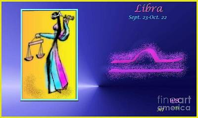Poster featuring the digital art Libra by The Art of Alice Terrill