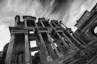 Library Of Celsus At Ephesus Poster by Nigel Forster