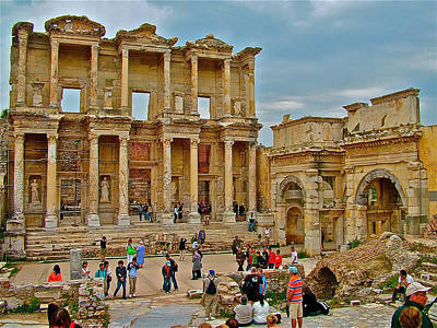 Library Of Celsus In Ephesus-turkey Poster by Ruth Hager