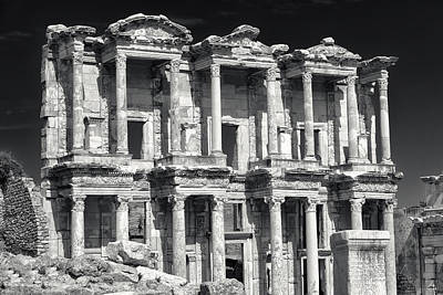 Poster featuring the photograph Library Of Celsus Ruins At Ephesus by Brad Brizek