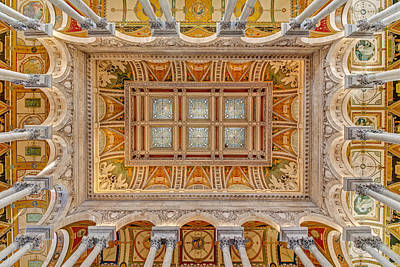 Library Of Congress Main Hall Ceiling Poster