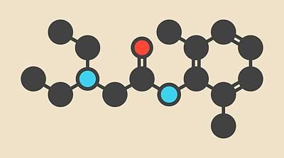 Lidocaine Local Anesthetic Drug Molecule Poster