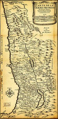 Liebauxs Map Of The Holy Land 1720 Poster by MotionAge Designs