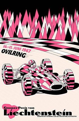 Liechtenstein 1967 Grand Prix Poster by Georgia Fowler