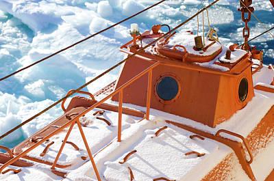 Life Boat Of The Icebreaker Kapitan Poster by Daisy Gilardini